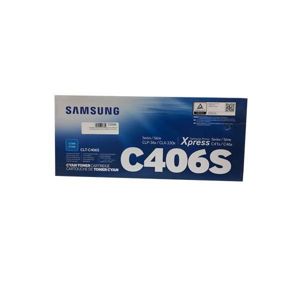 TONER CYAN PARA IMPRESORA SAMSUNG CLP365/CLX3305 C410 Y C460W CLT-C406SXAA