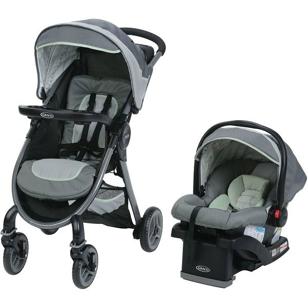4c9227f81 CARRITO + BABY SEAT MASON GRIS C/VERDE TRAVEL SYST. FAST ACT. FOLD