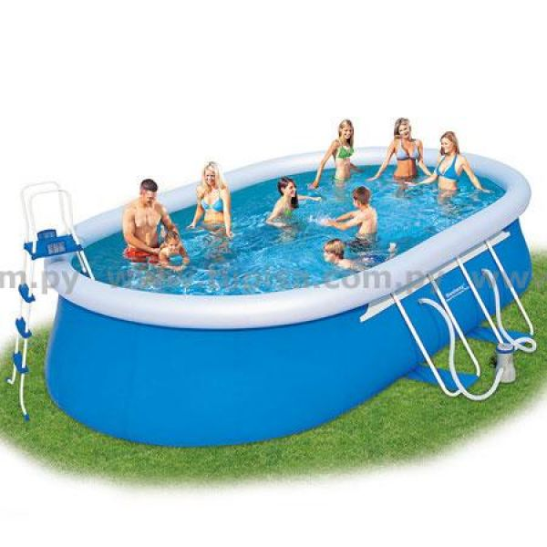 Tupi s a piscina bestway lts oval c borde for Piscina inflable bestway