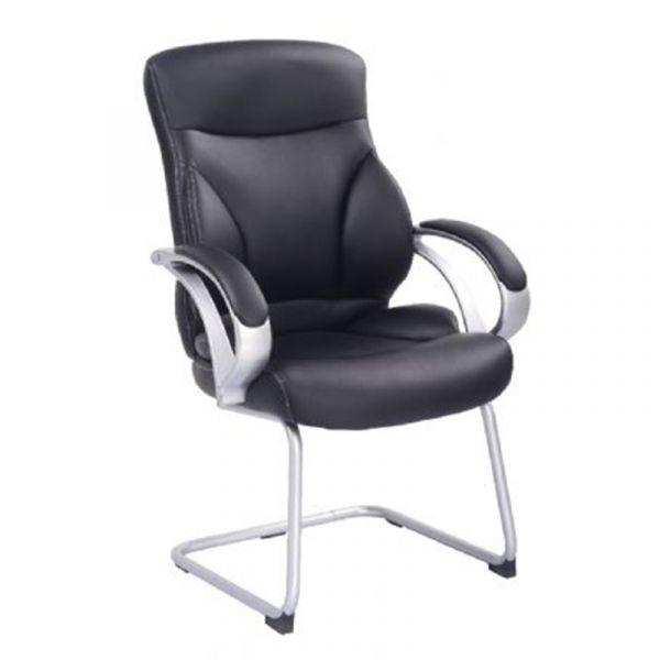 Silla para oficina sthe95823n negra costura blanca mecal