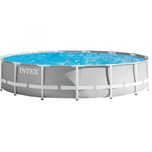 PISCINA INTEX C/ ESTRUCTURA METALICA /FILT 14.614 REDONDA 26724 4.57X1.07